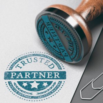 Image of a trusted partner stamp